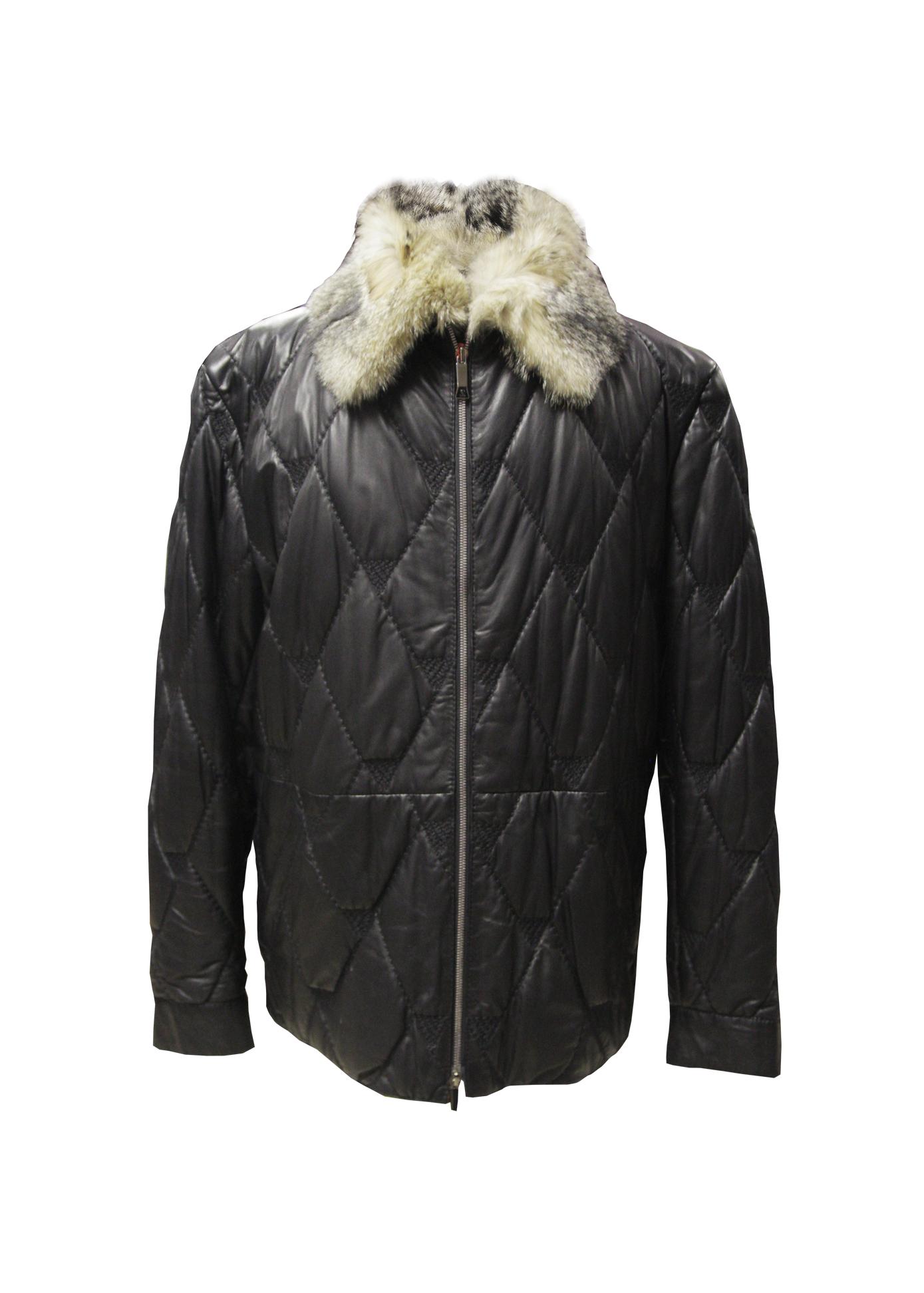 1e6950d2a3dd Мужская куртка из натуральной кожи (пуховик) ⋆ Магазин одежды Ягуар ...